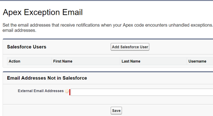 apex exception email
